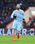 Gonzalo Higuain (9) of Chelsea during the Premier League match between Bournemouth and Chelsea at the Vitality Stadium, Bournemouth, England on 30 January 2019.