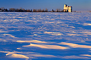 Grain elevator at sunrise<br />