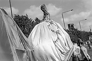 Georgian costume, Reclaim the Streets, Shepherd's Bush, London, July 1996