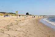 Early morning quiet at Knoll beach, Studland Bay, Swanage, Dorset, England, UK