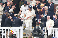 Alastair Cook and Mark Stoneman of England walk out on Day One of the NatWest Test Match match at Lord's, London<br /> Picture by Simon Dael/Focus Images Ltd 07866 555979<br /> 24/05/2018