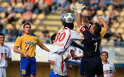 John Ogochukwu Ogu and Ermin Hasic at 33rd Round of PrvaLiga Telekom Slovenije 2008/2009 league match between NK Luka Koper and NK Labod Drava Ptuj, on May 9, 2009, in SRC Bonifika, Koper, Slovenia. Drava won 2:1. (Photo by Vid Ponikvar / Sportida)