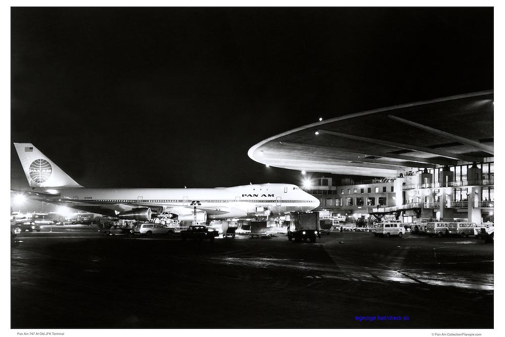 Pan Am 747 at JFK airport
