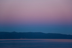 """Sunset at Lake Tahoe 10"" - This peaceful sunset was photographed from the West shore of Lake Tahoe, California."