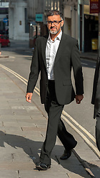 © Licensed to London News Pictures. 16<br /> 18/08/2015. Bristol, UK.  FAROOQ SIDDIQUE, age 46, arrives at Bristol Crown Court charged with three counts of rape, two counts of assault causing actual bodily harm, and one of making a threat to kill. A police spokesman said the charges related to a period between 2009 and 2014. Farooq Siddique is an ex-government adviser, the south west manager for the Government's Prevent strategy, aimed at tackling radicalisation and extremism, and held that position until 2012. He is also a former spokesman and community development officer for the Bristol Muslim Society, is well known within the Muslim community of Bristol, and has spoken out on issues such as terrorism and radicalisation on both a national and city-wide stage.  He was a voluntary Sunday school teacher at Islamic institutions across the city and worked with most of the city's mosques. He was involved with the making of a BBC docu-drama about the radicalisation of Bristol bomber Isa Ibrahim. Photo credit : Simon Chapman/LNP