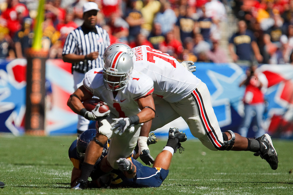 19 September 2009:   #1  Herron, Dan of the Ohio State Buckeyes  during the NCCA football game between Ohio State Buckeyes and the Toledo Rockets at Cleveland Browns Stadium in Cleveland, Ohio.