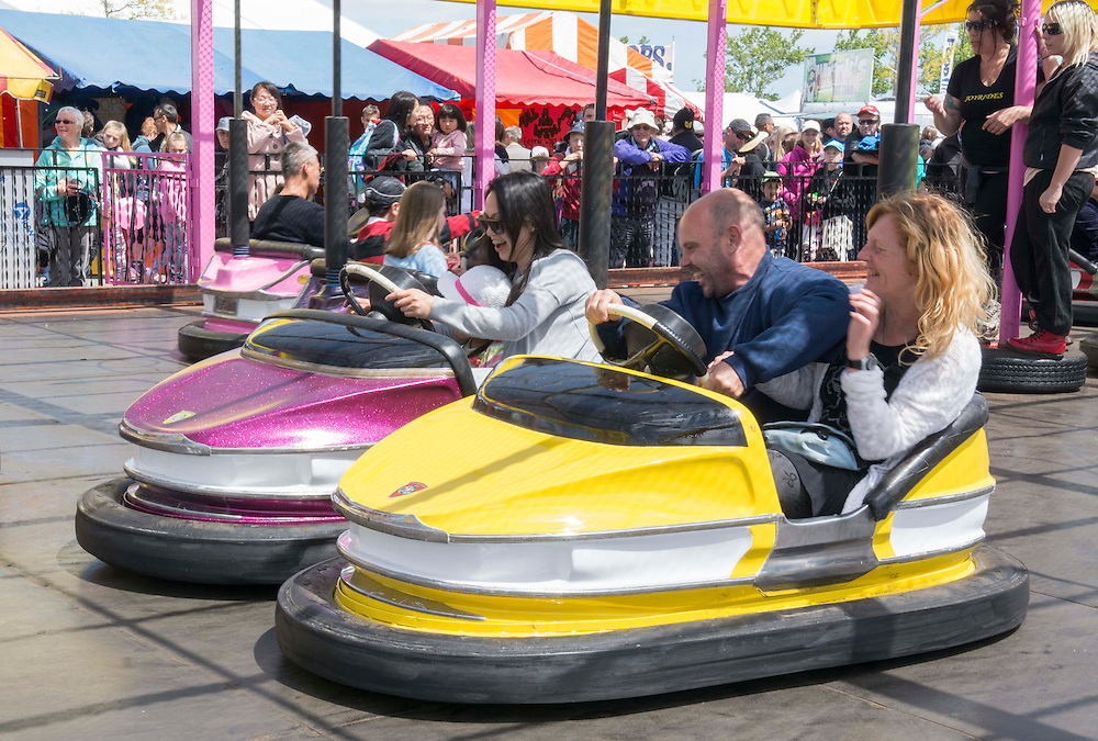 Dodgem cars one of the fairground rides at the Canterbury A&amp;P Show, Christchurch, New Zealand, Friday, 13 November, 2015.<br /> Credit:SNPA / David Alexander