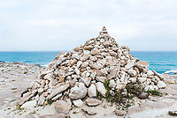 Stone cairn, Arniston, Western Cape South Africa