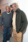 New York, NY- MARCH 10:  (L-R) Video Music Box Founder Ralph McDaniels and Visual Artist Danny Simmons at the Opening Reception of ' THE BOX THAT ROCKS: 30 Years of Video Music Box and the Rise of Hip Hop Music & Culture held at the Museum of Contemporary African Diasporan Arts (MoCADA) on March 10, 2012 in Brooklyn, New York City. (Photo by Terrence Jennings)