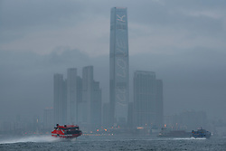 May 23, 2017 - Serious pollution levels in Hong Kong shroud the tallest building, the ICC International Commerce Centre in a dense blanket of toxic haze. <br />