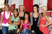 Season 2 cast (L-R) Meredith, Dee, Glenn, Nekisa, Gail and Nicole pose at the Bravo 'Shear Genius' Times Square Salon on the Military Island in Times Square in New York City, USA on June 24, 2008.