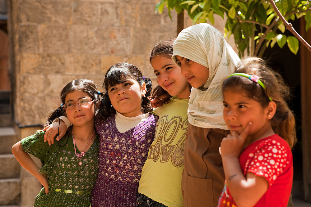 A group of school girls in Aleppo