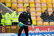 3rd November 2018, Fir Park, Motherwell, Scotland; Ladbrokes Premiership football, Motherwell versus Dundee; Trevor Carson of Motherwell during the warm up