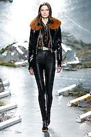 Dasha Denisenko (ONE) walks the runway wearing Rodarte Fall 2015 during Mercedes-Benz Fashion Week in New York on February 17, 2015