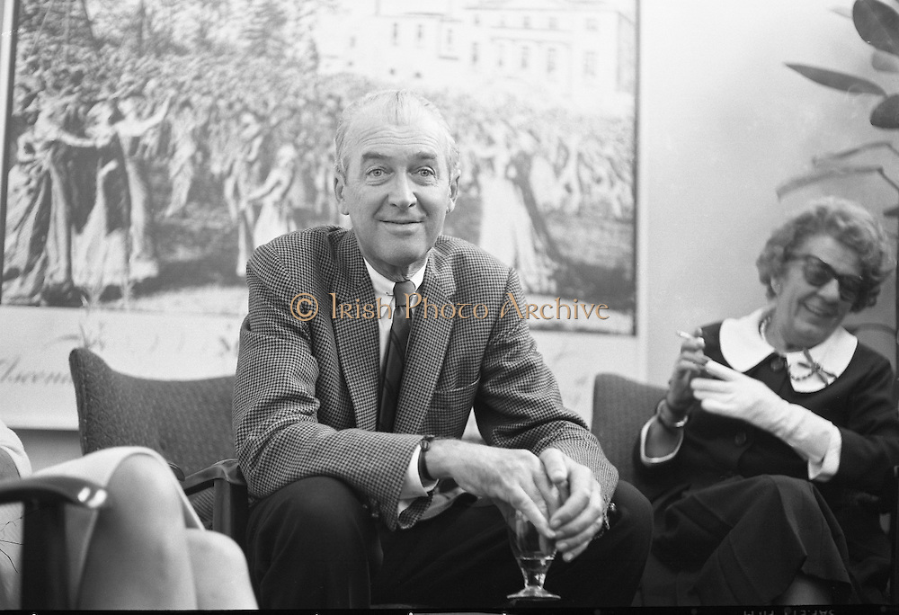 The actor James Stewart and F. Kirk Johnston of the Ambassador Oil Corporation at Dublin Airport..31.07.1962