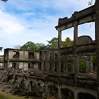 Ruins of the Middleside Barracks on  Corregidor Island, once quartered the 60th Coast Artillery anti-aircraft regiment, United States Regular Army and the 91st Coast Artillery, Philippine Scouts. The barracks was constructed in 1915; the Japanese bombed the barracks and destroyed it on 29 December, 1941.
