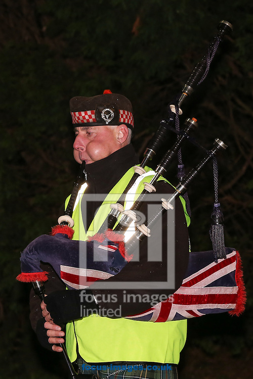 A piper during the Premier League match at the King Power Stadium, Leicester<br /> Picture by Andy Kearns/Focus Images Ltd 0781 864 4264<br /> 27/02/2017