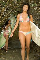 Smiling Surfer in Bikini