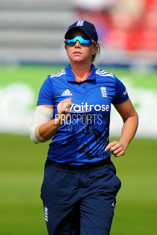 England women's Lauren Winfield during the Royal London ODI match between England Women Cricket and Pakistan Women Cricket at the Cooper Associates County Ground, Taunton, United Kingdom on 27 June 2016. Photo by Graham Hunt.