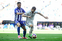 Real Madrid's Nacho Fernandez and Deportivo Alaves's Edgar Mendez during La Liga match between Real Madrid and Deportivo Alaves at Stadium Santiago Bernabeu in Madrid, Spain. April 02, 2017. (ALTERPHOTOS/BorjaB.Hojas)