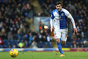 Danny Graham of Blackburn Rovers during the Sky Bet Championship match between Blackburn Rovers and Fulham at Ewood Park, Blackburn, England on 16 February 2016. Photo by Simon Brady.