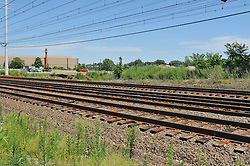 Pre-Construction Site Photograph at the location of The Railroad Station at Fairfield Metro Center. Station Completed November 2011, opened December 2011