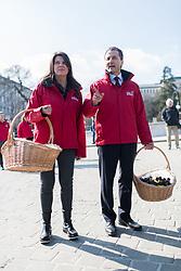 08.03.2017, Parlament, Wien, AUT, Team Stronach, Pfefferspray Verteilaktion am Weltfrauentag. im Bild v.l.n.r. Nationalratsabgeordnete Team Stronach Martina Schenk und Klubobmann Team Stronach Robert Lugar // during distributing of pepper spray to people due to the International Women's Day in Vienna, Austria on 2017/03/08. EXPA Pictures © 2017, PhotoCredit: EXPA/ Michael Gruber