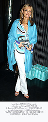 Social figure KIM HERSOV, at a party in London on 1st July 2004.PWS 230