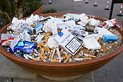 Ashtray outside a hotel in Viterbo, Italy.