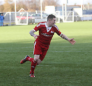 Celebration after winning penalty for Harvester - Harvester v Fairfield - Fosters Scottish Sunday Trophy semi final<br /> <br />  - &copy; David Young - www.davidyoungphoto.co.uk - email: davidyoungphoto@gmail.com