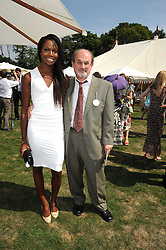 SIR SALMAN RUSHDIE and AITA IGHODARO at the Cartier International Polo at Guards Polo Club, Windsor Great Park on 27th July 2008.<br /> <br /> NON EXCLUSIVE - WORLD RIGHTS