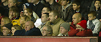 Photo: Aidan Ellis.<br /> Manchester United v Everton. The Barclays Premiership.<br /> 11/12/2005.<br /> United fans look glum during the 1-1 draw with Everton