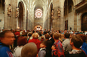 St. Vitus Dome, visiting tourists.