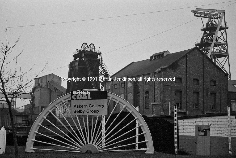 Askern Colliery, Selby Group. British Coal Doncaster Area. 30.11.1991.