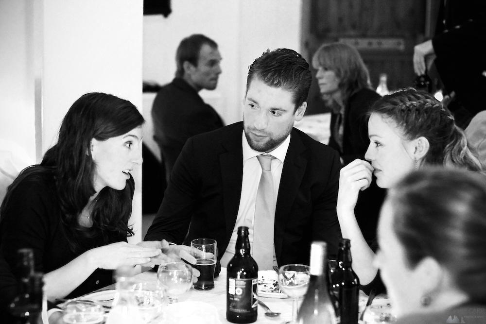 Julie, Eamonn & Carrie at Jan & Carrie's Wedding reception