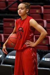 March 18, 2011; Stanford, CA, USA; Texas Tech Lady Raiders guard Casey Morris (15) during practice the day before the first round of the 2011 NCAA women's basketball tournament at Maples Pavilion.