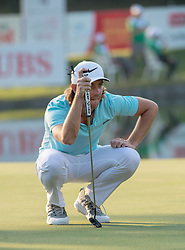 December 10, 2016 - Hong Kong, Hong Kong SAR, China - England's Tommy Fleetwood on the 18th green finishes round 3 in 3rd position with 9 under par.Day 3 of the Hong Kong Open Golf at the Hong Kong Golf Club Fanling..© Jayne Russell. (Credit Image: © Jayne Russell via ZUMA Wire)