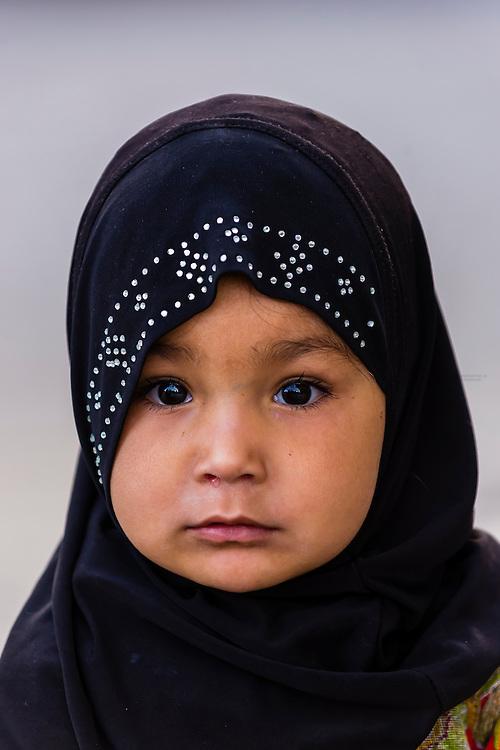 Muslim girl, Old Leh, Ladakh, Jammu and Kashmir State, India.