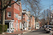 Newburyport, MA - April,4 2015. At the mouth of the Merrimack River, the city of Newburyport is known for its restored brick buildings and streets.