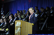 Washington, D.C. Police Chief Cathy L. Lanier speaks at the National Ethnic Coalition of Organizations' 2015 Ellis Island Medal of Honor awards ceremony on Ellis Island, Saturday, May 9, 2015.  NECO honored Lanier as one of 101 recipients, including New York Yankees legend Mariano Rivera, journalist Meredith Vieira, and 11 members of the U.S. military.  NECO's mission is to honor and preserve the diversity of the American people and to foster tolerance, respect and understanding among religious and ethnic groups. (Photo by Diane Bondareff/Invision for NECO/AP Images)