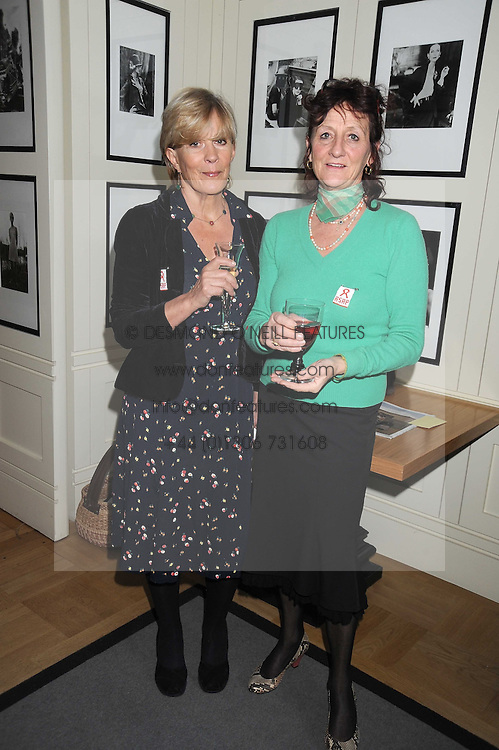 Left to right, CANDIDA LYCETTE-GREEN and The Hon JANE ORMSBY GORE at a tea in aid of ASAP - African Solutions to African Problems, held at Vogue House, Hanover Square, London on 22nd October 2008.