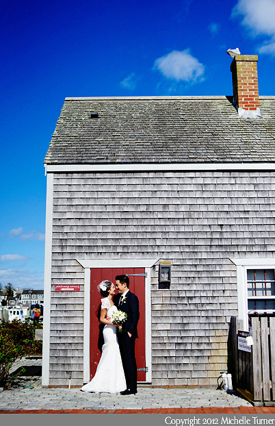 A Martha's Vineyard wedding in the fall.  Image by New England wedding photographer Michelle Turner.