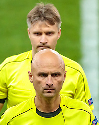 03.05.2018, Red Bull Arena, Salzburg, AUT, UEFA EL, FC Salzburg vs Olympique Marseille, Halbfinale, Rueckspiel, im Bild Torrichter Sergey Lapochkin (RUS), Referee Sergei Karasev (RUS) // during the UEFA Europa League Semifinal, 2nd Leg Match between FC Salzburg and Olympique Marseille at the Red Bull Arena in Salzburg, Austria on 2018/05/03. EXPA Pictures © 2018, PhotoCredit: EXPA/ JFK