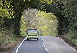 © Licensed to London News Pictures. 25/04/2016. Dorking, UK. Mill Road in South Holmwood near Dorking. Police searching for Lee Taylor say they have found a body. Mr Taylor went missing from his Tadworth home on Sunday 24th April after the unexpected death of his wife.  Photo credit: Peter Macdiarmid/LNP