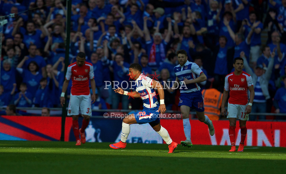 LONDON, ENGLAND - Saturday, April 18, 2015: Arsenal's xxxx in action against Reading during the FA Cup Semi-Final match at Wembley Stadium. (Pic by David Rawcliffe/Propaganda)