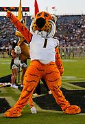 WEST LAFAYETTE, IN - SEPTEMBER 15: The Missouri Tigers mascot is seen during the game against the Purdue Boilermakers at Ross-Ade Stadium on September 15, 2018 in West Lafayette, Indiana. (Photo by Michael Hickey/Getty Images) NCAA Football - Purdue Boilermakers vs Missouri Tigers at Ross-Ade Stadium in West Lafayette, Indiana. Sports photographer by Michael Hickey