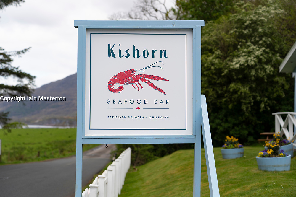 Kishorn Seafood Bar on the North Coast 500 scenic driving route in northern Scotland, UK