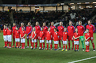 USA Women before the International Friendly match against England Women at stadium:mk, Milton Keynes<br /> Picture by David Horn/Focus Images Ltd +44 7545 970036<br /> 13/02/2015
