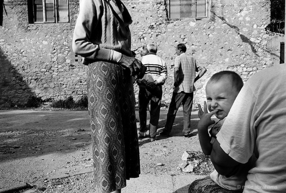 "Children showing signs of trauma after the brutal Muslim Croat War.  It was destroyed by systemic bombardment from Croat guns during the Croat Muslim War, when the Croats endeavored to "" cleanse"" the town of non Croats."