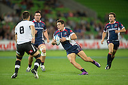 Mitch Inman (Rebels) in action during the Round 9 match of the 2013 Super Rugby Championship between RaboDirect Rebels vs Southern Kings at AAMI Park, Melbourne, Victoria, Australia. 13/04/0213. Photo By Lucas Wroe